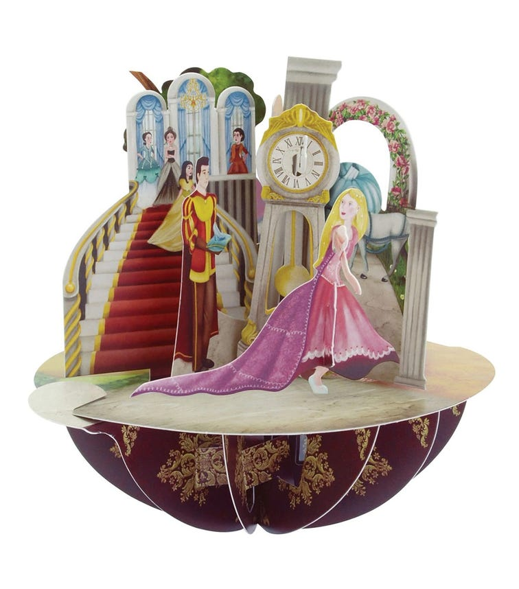 SANTORO London Princesses 3D Pirouette Greeting Card