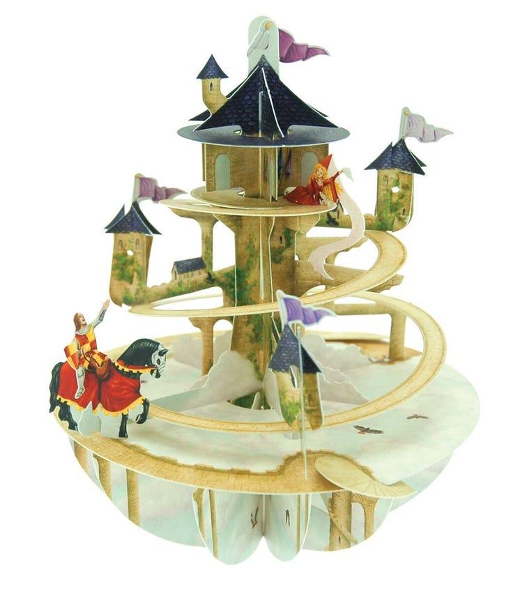 SANTORO London Princess Tower 3D Pirouette Greeting Card