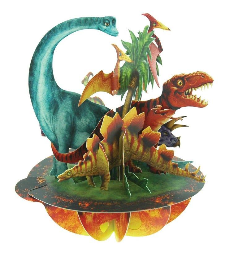 SANTORO London Jurassic Dinosaurs 3D Pirouette Greeting Card