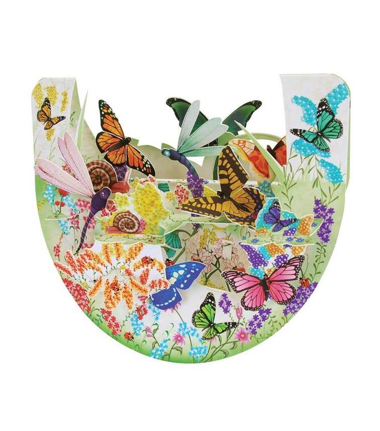 SANTORO London Butterfly Garden 3D Pop N Rock Greeting Card