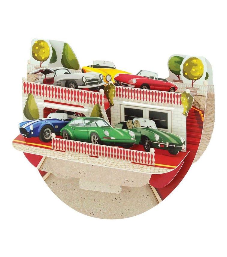 SANTORO London Classic Cars 3D Pop N Rock Greeting Card