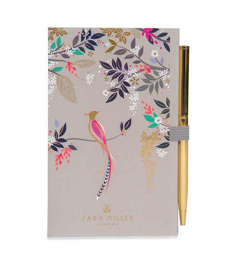 SARA MILLER Bird Of Paradise Notebook And Pen