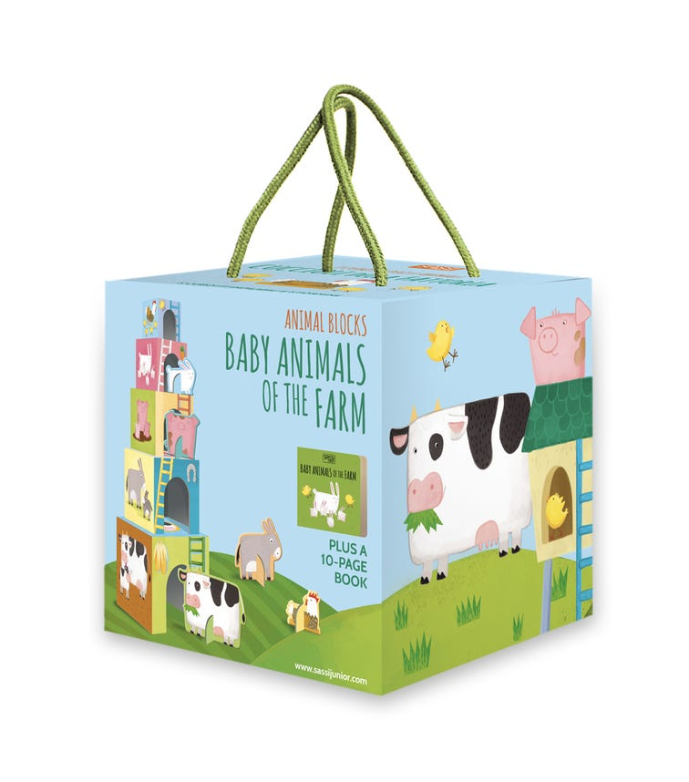 SASSI Blocks And Book Baby Animals Of The Farm