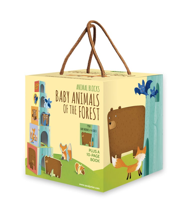 SASSI Blocks And Book Baby Animals Of The Forest