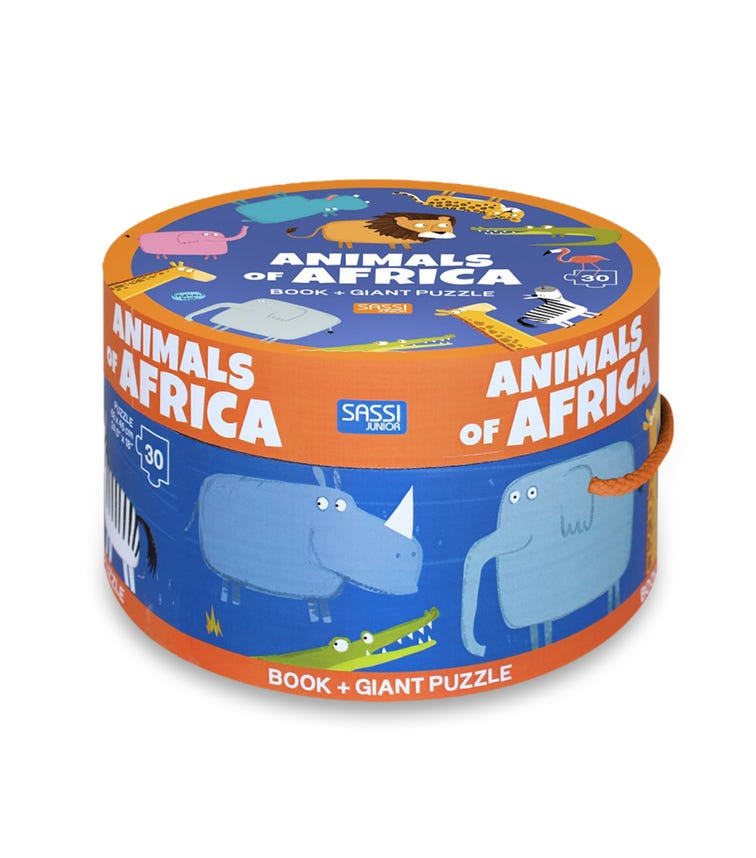 SASSI Book N Giant Puzzle Box Animals Of Africa