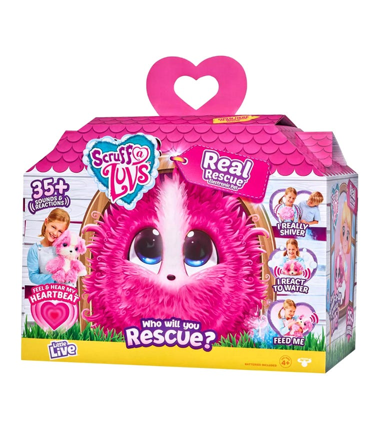 SCRUFF A LUV Real Rescue Pink