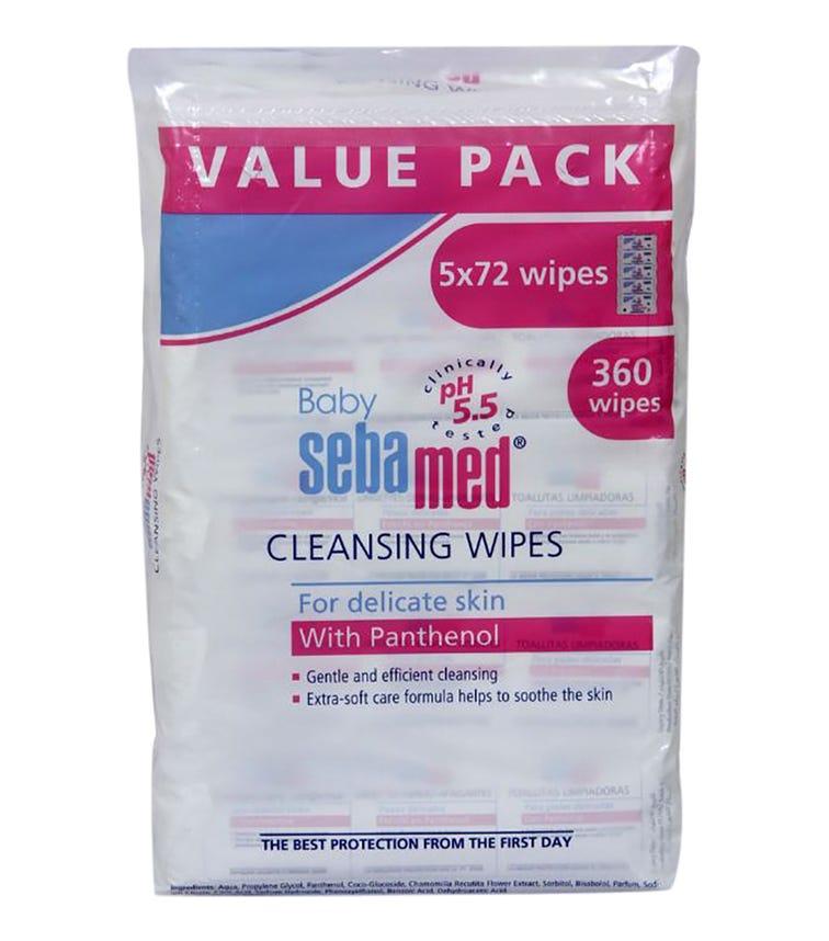 SEBAMED Baby Wet Wipes 72'S X 5 Pack