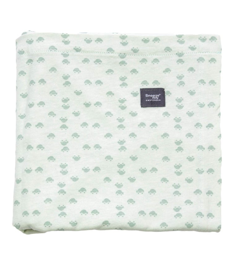 SNOOZEBABY Swaddle Sheet Cot Grey Mist + Bumble Pack