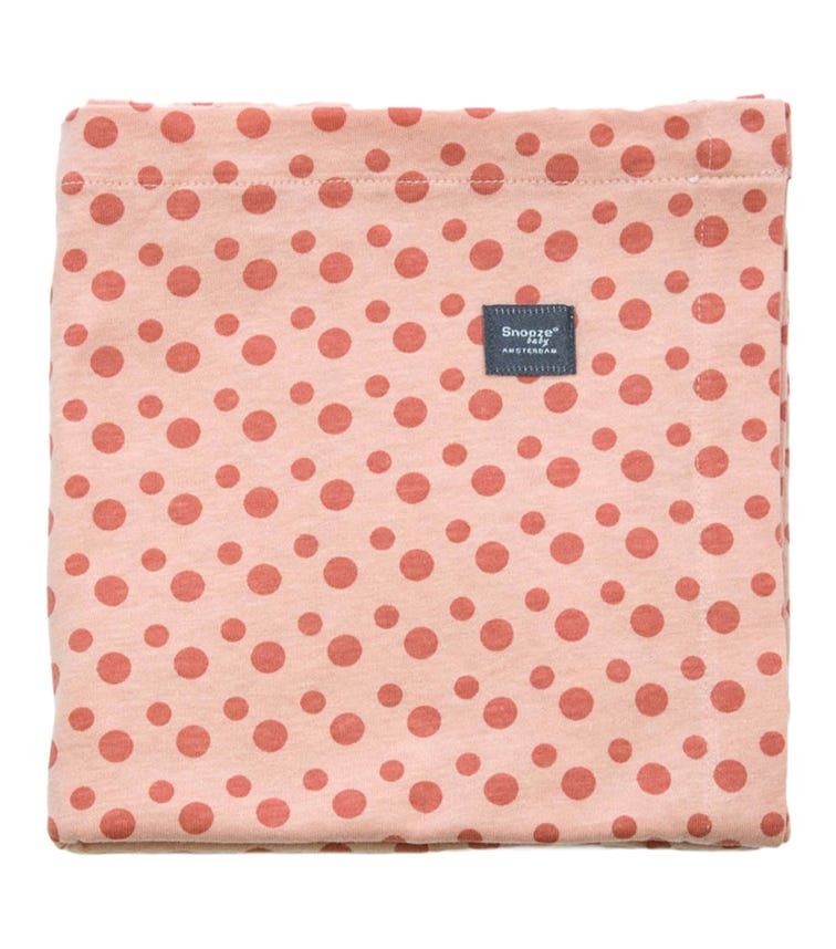 SNOOZEBABY Swaddle Sheet Cot Dusty Rose + Bumble Pack