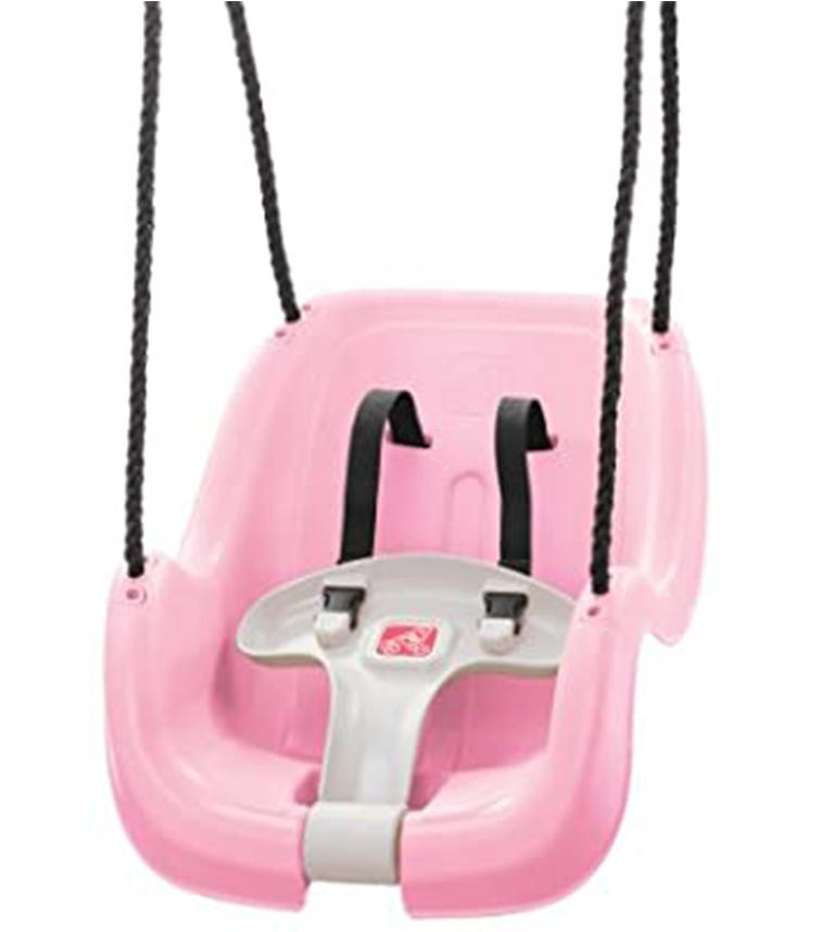 STEP 2 Infant To Toddler Swing Pink 1 Pack