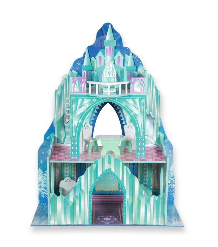 TEAMSON Kids Dreamland Ice Mansion 12 Inch Doll House (Aqua Blue/Pink)