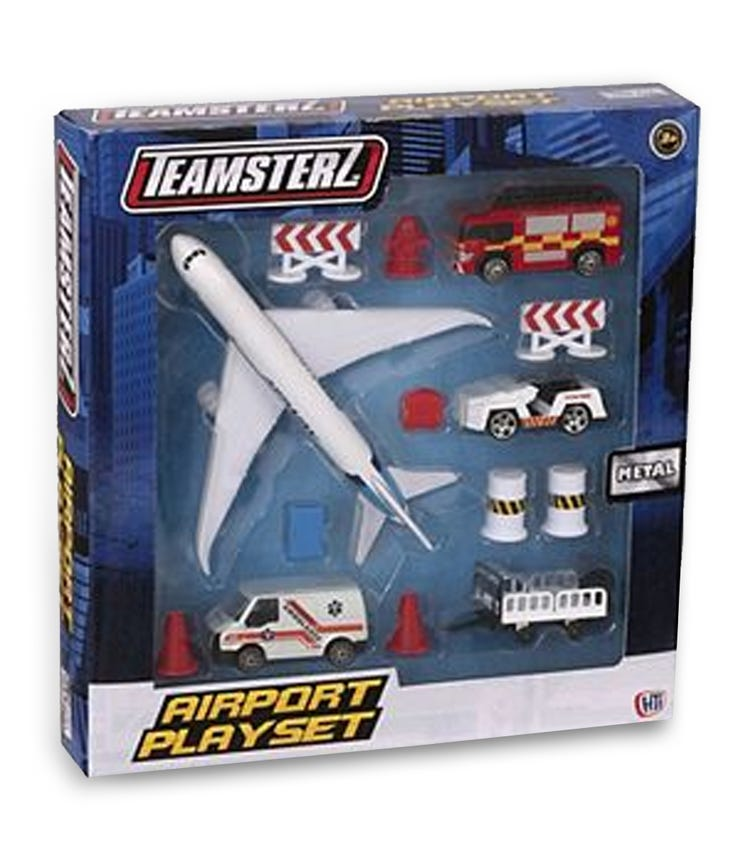 TEAMSTERZ  Airport Playset 14 Piece