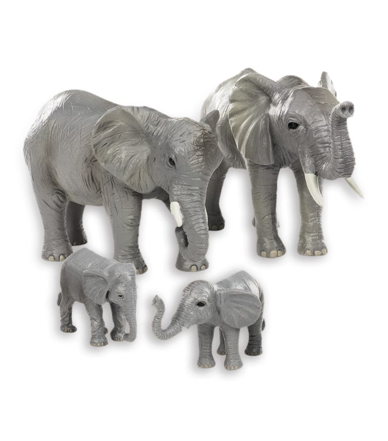TERRA AND B TOYS African Elephant Family