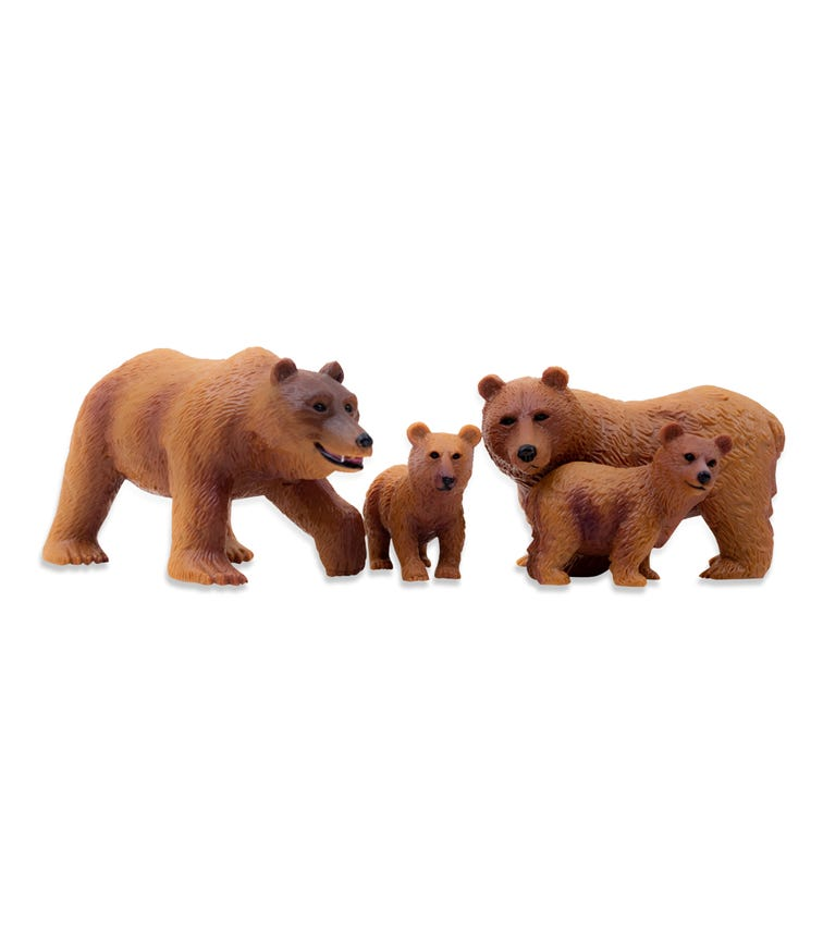 TERRA AND B TOYS Brown Bear Family