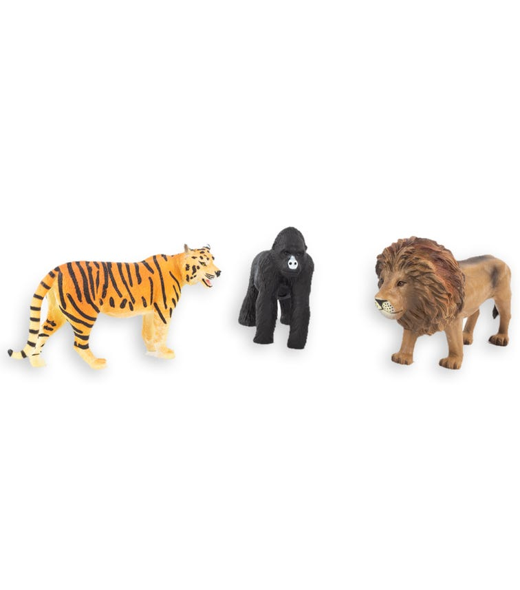 TERRA AND B TOYS Animal Collectible Figures Gorilla Tiger And Lion