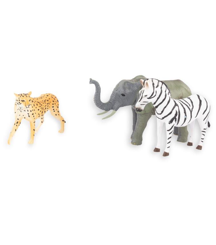 TERRA AND B TOYS Animal Collectible Figures Zebra Cheetah And Elephant