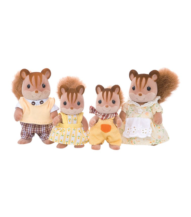 SYLVANIAN Walnut Squirrel Family