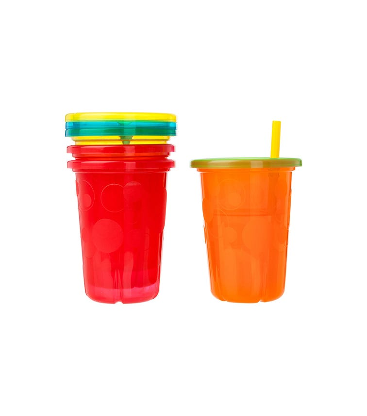 THE FIRST YEARS Take And Toss 10 Oz Straw Cups Pack Of 4