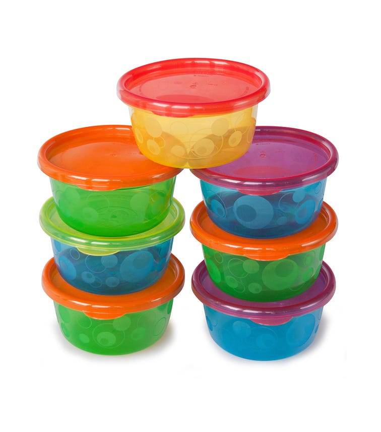 THE FIRST YEARS Take Toss 8 Oz Toddler Bowls With Lids Pack Of 6