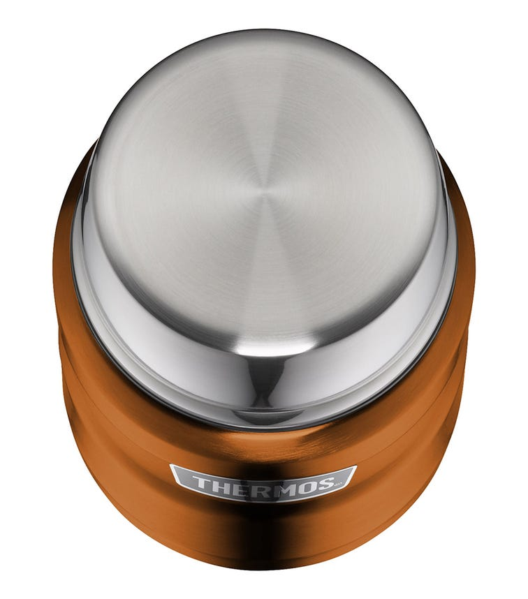 THERMOS - Stainless King Food Flask With Folding Spoon 470 ML, Copper