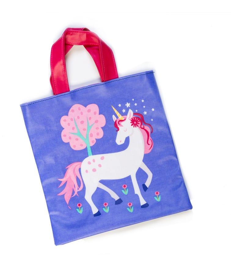 THREADBEAR DESIGN A Pretty Purple Mini Tote Bag Unicorns