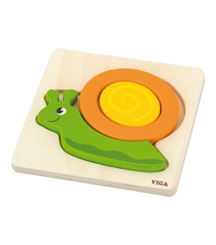 VIGA Shape Block Puzzle Snail
