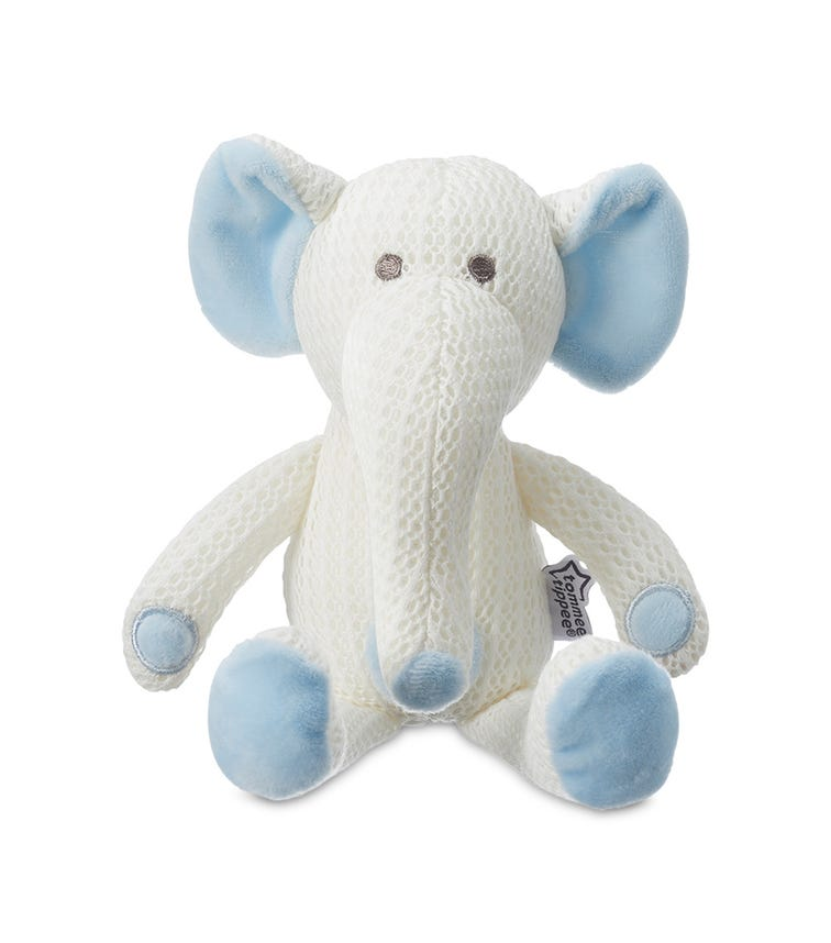TOMMEE TIPPEE Breathable Toy Eddy The Elephant - Blue