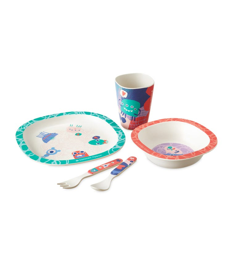 TOMMEE TIPPEE Bamboo Dinner Set For Kids Pack Of 5
