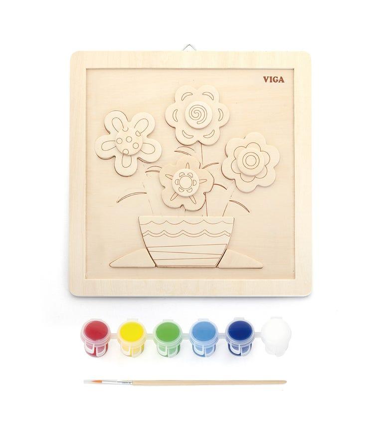 VIGA Painting Set Flowers