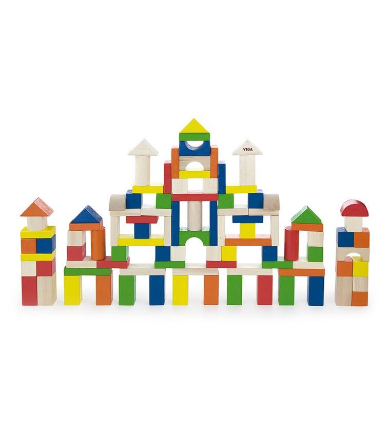 VIGA Colorful Block Set (100 Pieces)