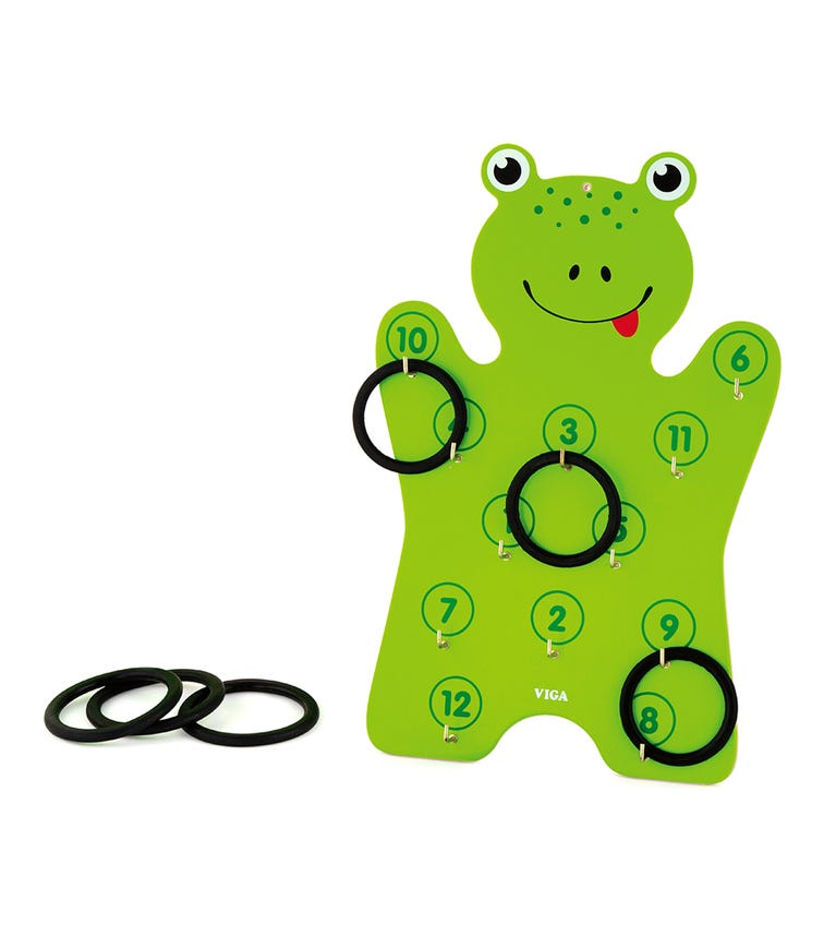 VIGA Frog Ring Toss Game