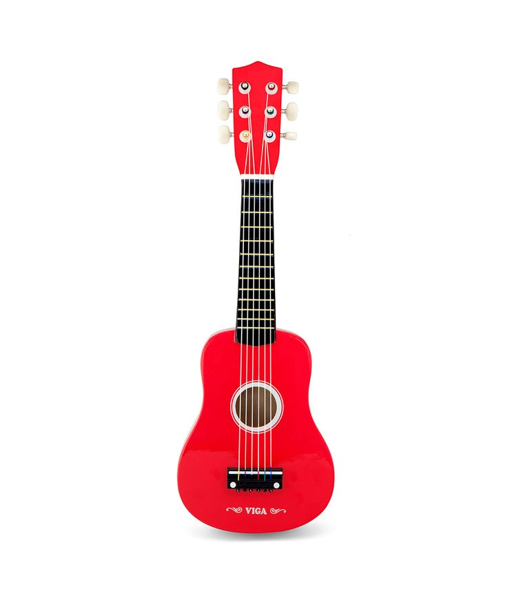VIGA Wooden Guitar Red