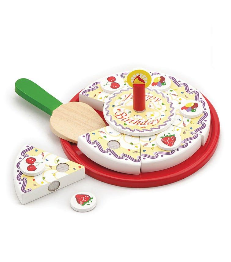 VIGA Wooden Birthday Cake Play Food