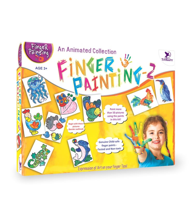 TOY CRAFT Finger Painting Kit 2