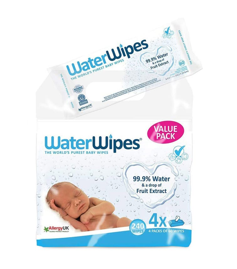 WATER WIPES - Baby Wipes Value Pack 4 X 60 (240 Wipes)