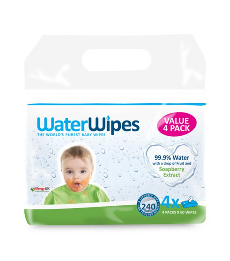 WATER WIPES Baby Wipes Soapberry Value Pack 4X60 (240 Wipes)