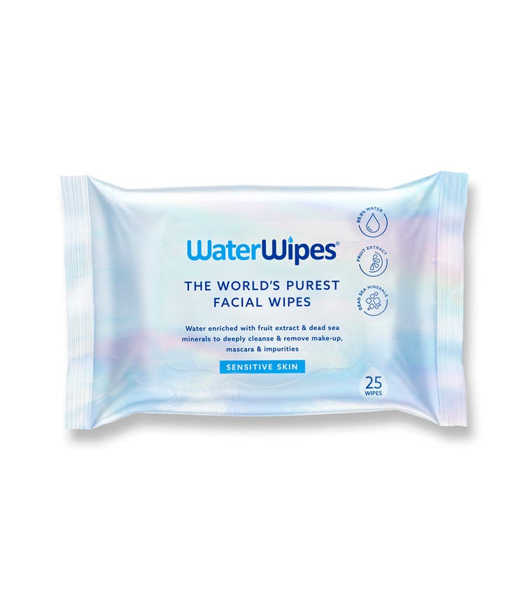 WATER WIPES - Sensitive Facial Wipes (25 Wipes)