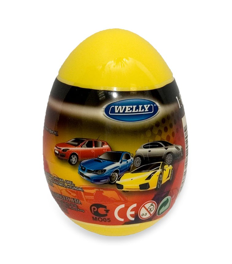 WELLITECH Welly Egg Surprise Die Cast Cars