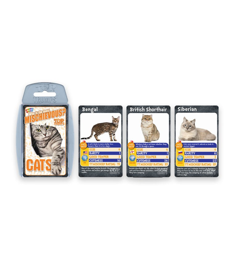 WINNING MOVES Top Trumps Cats Card