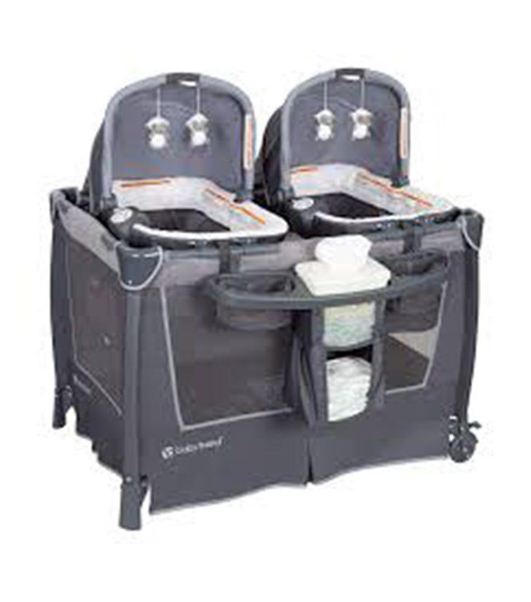 BABYTREND Retreat Twins Nursery Center Shale