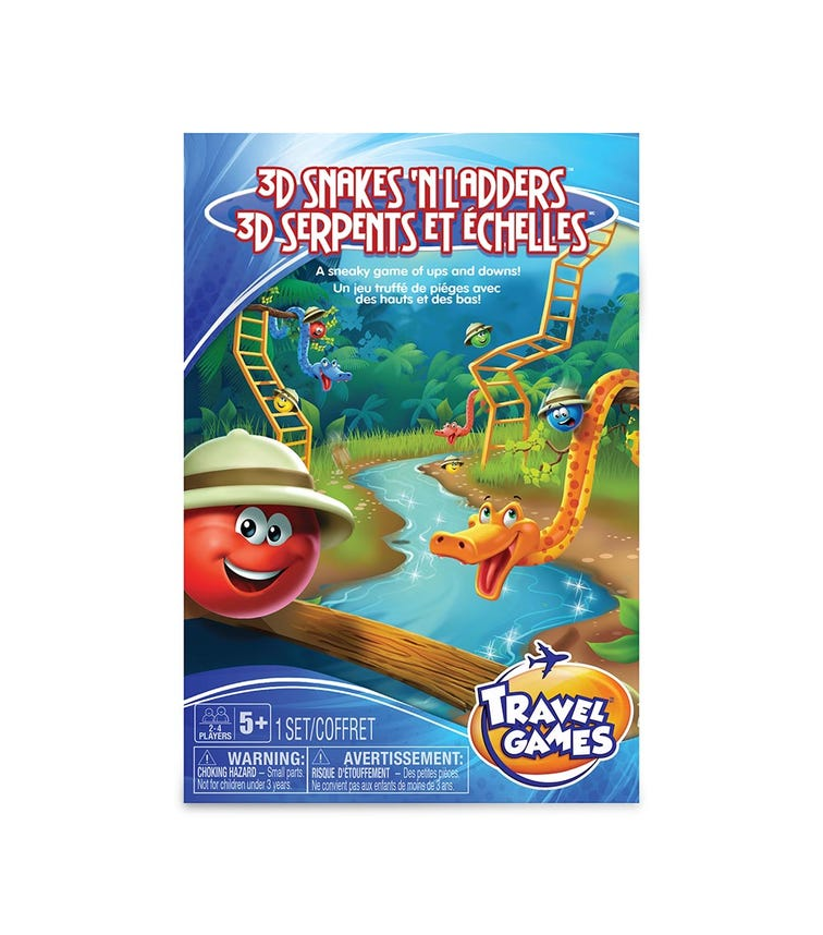 TCG Snakes & Ladders Travel Game