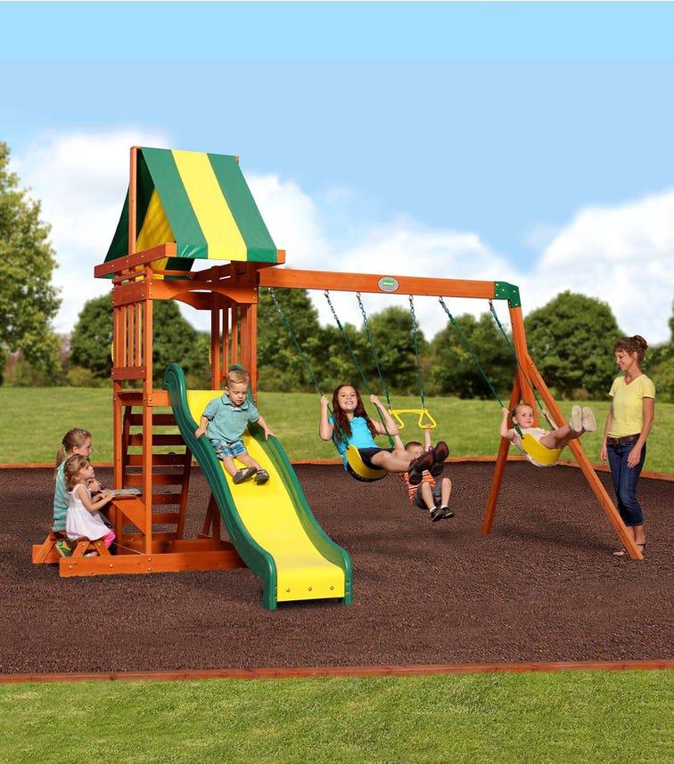 BACKYARD DISCOVERY Prestige Swing Set & Slide
