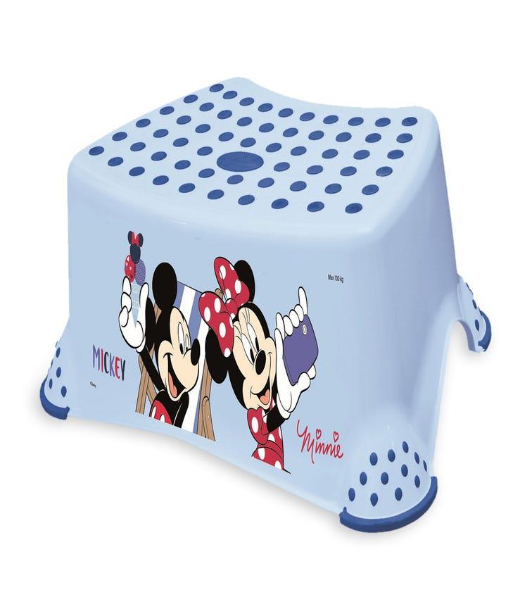OKT Mickey Step Stool With Anti-Slip Function Light Blue