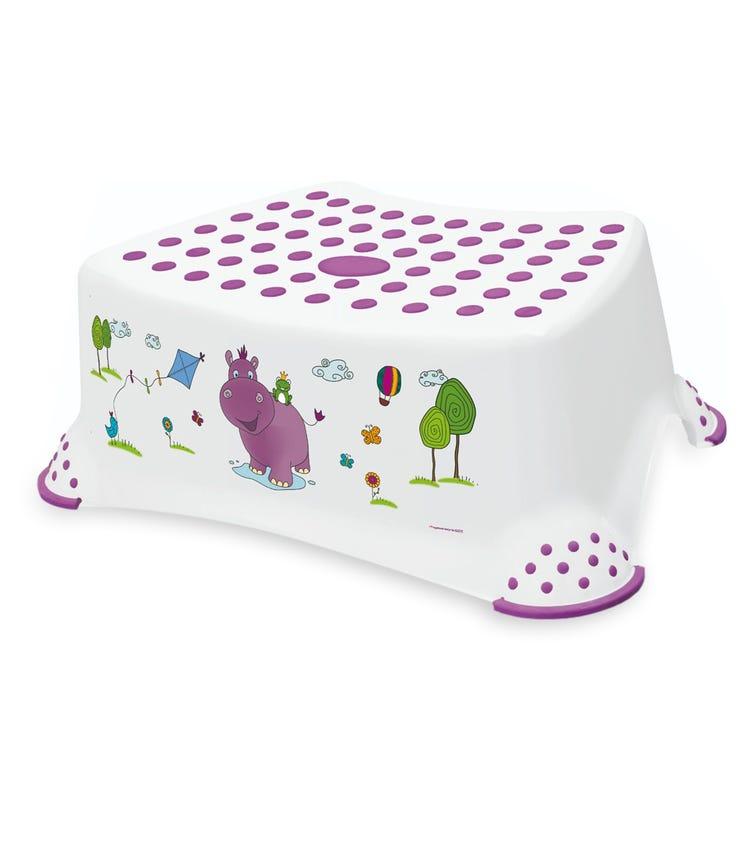 OKT Hippo Step Stool With Anti-Slip Function White