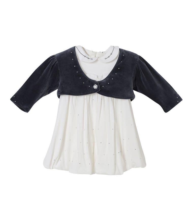 SOFIJA Velvet Jacket With Cotton Dress
