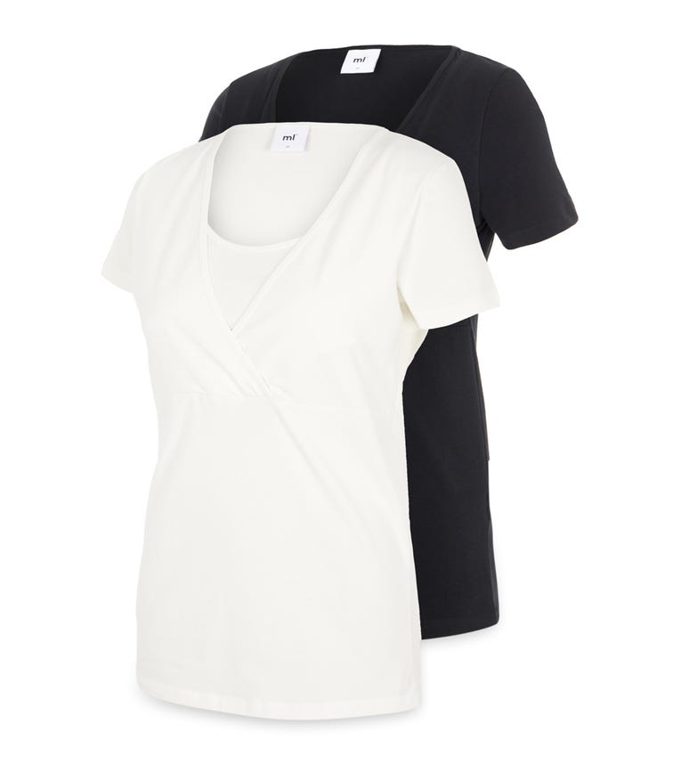 MAMALICIOUS - Mllea Org Tess S/S Top No 2Pack