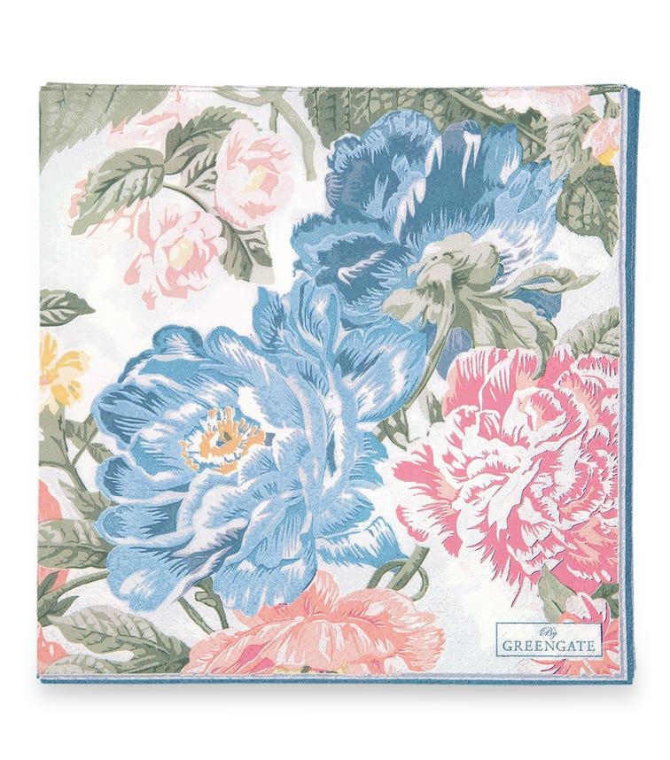 GREENGATE Napkin Adele - White Large (20 Pieces)