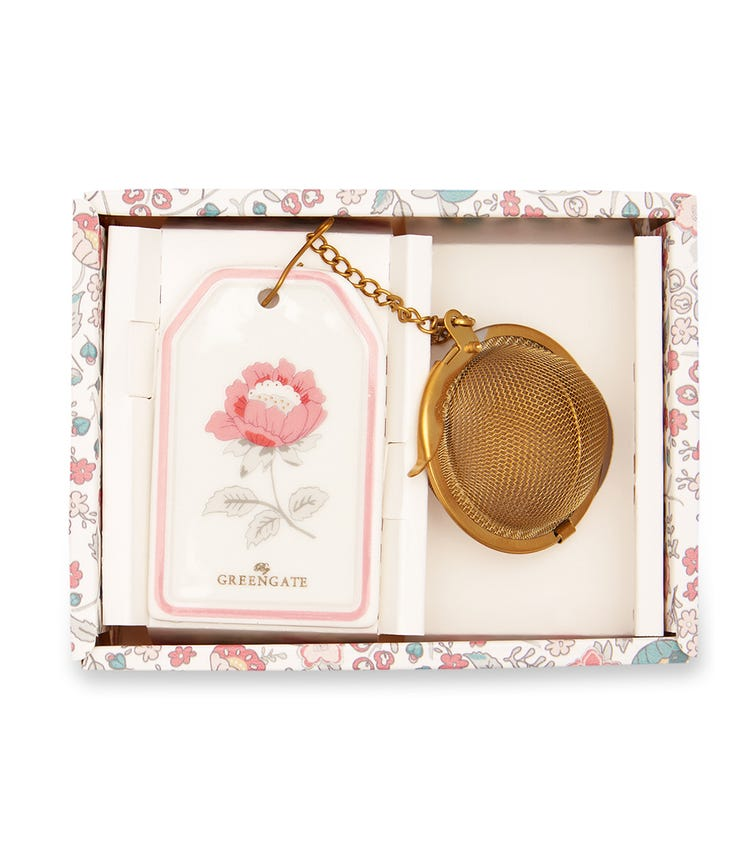 GREENGATE Tea Infuser Sienna - White With Chain