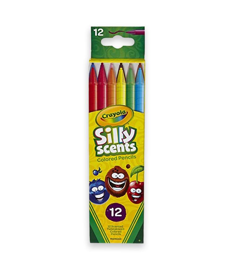 CRAYOLA 12 Crayon Set Silly Scents Twistables Colored Pencils