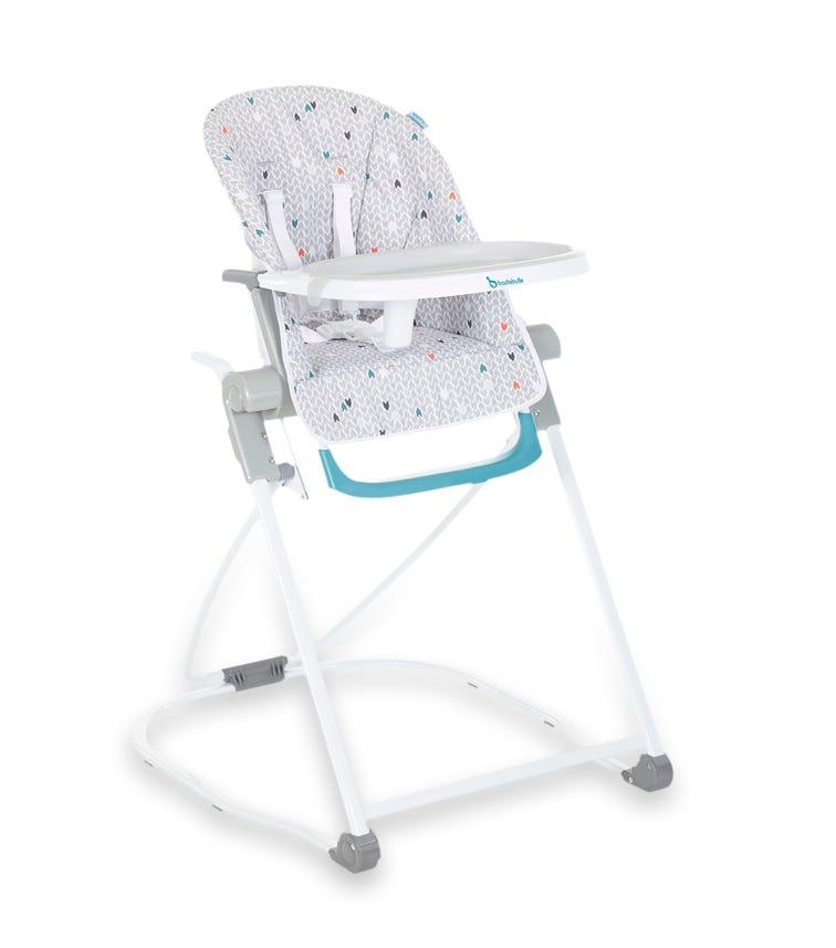 BADABULLE High Chair Compact Grey Pattern